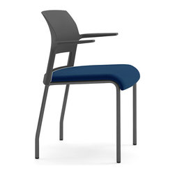 Steelcase - Steelcase Move Multi-Use Chair, Black Frame w/Arms & Glides - Under the seat cushion of the Steelcase Move chair lies an innovative support system that conforms to your body. Flexors inside the seat curve with your curves and move as you move. So move around. Versatile, stackable, and environmentally friendly. Move chairs are guest chairs that also stack up to 5 high. Live dynamic seat, open cantilever arm design, light weight, and strength make Move a logical choice for multipurpose areas.