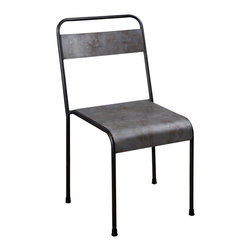 Alleppey Stacking Metal Chair - Product Features: