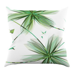 "Kess InHouse - Alison Coxon ""Flower Teal"" Throw Pillow (16"" x 16"") - Rest among the art you love. Transform your hang out room into a hip gallery, that's also comfortable. With this pillow you can create an environment that reflects your unique style. It's amazing what a throw pillow can do to complete a room. (Kess InHouse is not responsible for pillow fighting that may occur as the result of creative stimulation)."