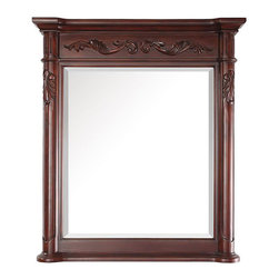 None - Avanity Provence 36-inch Mirror in Antique Cherry Finish - This gleaming Estate mirror is perfect for any grand salon or entry wayIntricately detailed moldings highlight the antique cherry finishThis wall mirror features a wood cleat at back for easy hanging