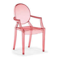 Zuo Modern - Baby Anime Transparent Chair, Red - Baby Anime Transparent Chair