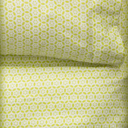 Circle 'Round Sheet Set, Lime - Nothing feels fresher than crisp new sheets in a bright, citrusy pattern. Wake up in between these happy layers, and you'll be ready to start the day.