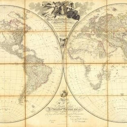 Map, Researches of Capt. James Cook, 1808 15.84 x 30 Art Print On Canvas - Map of the World, Researches of Capt. James Cook, 1808 by Aaron Arrowsmith Size: 15.84 x 30 Art Print Poster Canvas.  Transfer stretched, canvas museum wrap, comes ready to hang. Canvas board is an off white color.
