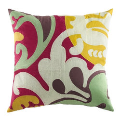 Koko Company - Koko Company EARTH Embroidered 26 x 26 in. Euro Sham Multicolor - 92010 - Shop for Pillowcases and Shams from Hayneedle.com! About The Koko CompanyFor over 10 years The Koko Company has been pouring heart and soul into bringing you a vibrant diverse collection of pieces to suit your unique style. From pillows and bedding to rugs and throws every piece is both versatile and distinctive each playing its own part in a grander global vision. Located in Long Island City NY but influenced and inspired by an array of cultures and fashions The Koko Company strives to bring the subtle elegance of natural fibers and organic design to your home accents.