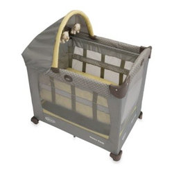 Graco - Graco Travel Lite Crib with Stages Bassinet in Peyton - The perfect travel crib, the Travel Lite makes sure your little one sleeps soundly while at home or away. Its one-of-a-kind, height-adjustable, removable bassinet has 2 levels so it grows with your baby.