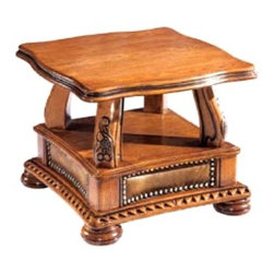 ESF Furniture - Oakman End Table - ESF Furniture - This charming Oakman End Table will provide comfort and amazing style in your living space. End table features classical shape covered with wood top.