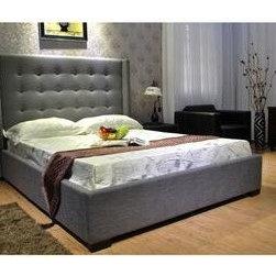 Queen Fabric Platform Bed -