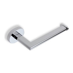"""Stilhaus by Nameeks - Diana Wall Mounted Toilet Paper Holder in Chrome - Features: -Wall mounted toilet paper holder. -Diana collection. -Chrome finish. -Brass construction. -Made in Italy. -Overall dimensions: 1.6"""" H x 6.5"""" W x 2.95"""" D."""