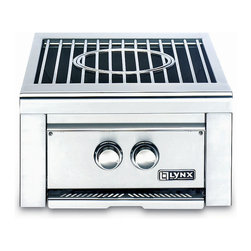 Frontgate - Lynx Power Burner - Dual-ring cast brass burners for exceptional cooking performance. Adjustable heat control from 3,000 to 46,000 BTUs. Large grate surface accommodates an oversized stockpot. Removable center grate allows use of a commercial-style wok. Hot surface ignition system lights the burners quickly and safely. Prepare side dishes and sauces while grilling your main dish using the Lynx Power Burner. Designed to fit on your Lynx Grill, it's a useful and high-quality accessory for your outdoor kitchen.  . . . . . Fully extendable drip pan. Removable stainless steel cover protects the unit when not it use. Made in USA from imported components. This item is ineligible for discounts.
