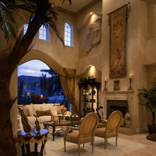 Transitional Living Room by Perla Lichi Design