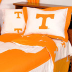 College Covers - NCAA Tennessee Volunteers Twin X-Long Bed Set Cotton Bedding - FEATURES: