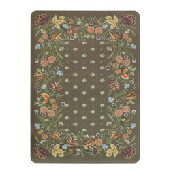 Home Decorators Collection - Loraine Doormat - Specially designed to use in your kitchen, this synthetic rug from our Kitchen Comfort Floor Mats Collection offers unsurpassed durability and a thick, comfortable cushion that will last for years. Perfect to place in front of your sink, kitchen island or any other high-traffic part of your kitchen, this beautiful traditional design will soon become a favorite part of your home decor. Specially made with highly absorbent open-cell sponge rubber that offers extra cushion and keeps your floors clean and dry. Anti-slip rubber backing keeps mat in place. Machine washable.