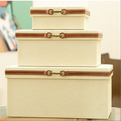 Canvas Storage Box - Seems everyone needs more storage these days.  These canvas storage boxes are a great way to create storage that you won't mind showing off.  I like the look of these stacked up, but you can use them individually, as well.