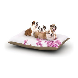 """Kess InHouse - Monika Strigel """"Cherry Sakura"""" Pink Floral Fleece Dog Bed (30"""" x 40"""") - Pets deserve to be as comfortable as their humans! These dog beds not only give your pet the utmost comfort with their fleece cozy top but they match your house and decor! Kess Inhouse gives your pet some style by adding vivaciously artistic work onto their favorite place to lay, their bed! What's the best part? These are totally machine washable, just unzip the cover and throw it in the washing machine!"""