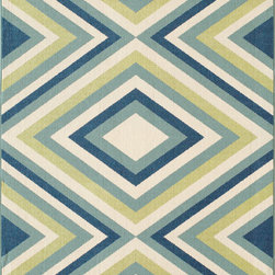None - Indoor/ Outdoor Multi Zig-Zag Rug (2'3 x 4'6) - Create the ultimate indoor/outdoor oasis with this bold,trend-conscious area rug. Featuring an exciting yet simple graphic pattern with a lively color palette,this area rug brings a refreshing twist of runway fashion to liven up any space.