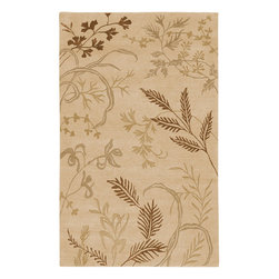 Idyll Natural Rug - 5'x8' - Idyll Natural Rug: Sonora brings simplicity and sophistication to the hand-knotted rug. The simple patterns and soft colors make this collection an easy match to all d�cors. Hand-knotted in India from semi worsted New Zealand wool, Sonora is a beautiful rug for a gorgeous d�cor. he primary color of this rug is beige.
