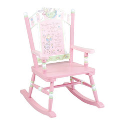 Levels of Discovery - Fairy Wishes Rocking Chair - This adorable pink kids rocking chair will make any little girl feel like a princess. With a special inscription for girls on the back,this rocking chair is the perfect addition to any bedroom and can help to encourage children to read.