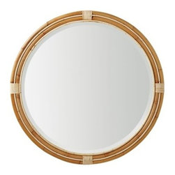 Serena & Lily - Montara Mirror Natural (Large) - Crafted of unadorned rattan, this mirror has a simplicity we admire. Double framing brings unexpected dimension to the wall a shipshape alternative to the standard mirror.