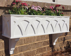 York Window Boxes - At Flower Window Boxes we are helping to transform the window box industry as your affordable no rot solution to window box gardening. Our York window boxes are made from a no rot PVC material that looks, paints, and feels identical to wood. Get the look of wood and avoid all the maintenance. Benefits include: