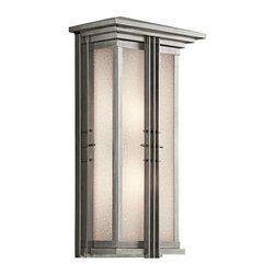 Kichler Lighting - Kichler Lighting 49160SS Portman Square Arts and Crafts/Mission Outdoor Wall - Kichler Lighting 49160SS Portman Square Arts and Crafts/Mission Outdoor Wall Light - XLarge In Stainless Steel