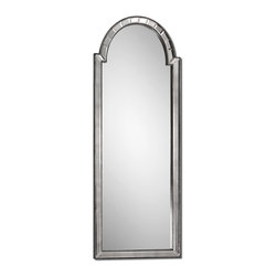 Uttermost - Bacavi Arch Silver Mirror - Mirror, mirror, on the wall, is this the fairest of them all? With its statuesque dimensions, beveled side mirrors and burnished silver detailing, there's no question this silver-tone mirror is a stunning choice for any interior living space.