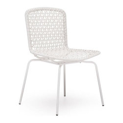 Zuo Modern - Zuo Silvermine Bay Chair in White [Set of 4] - Silvermine Bay Chair in White by Zuo Modern Funky design and hot colors, the Silvermine chair will have your friends asking for more. The frame is 100% epoxy coated steel durable in any climate. Chair (4)