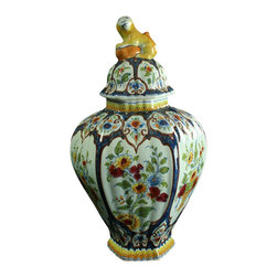 OUD - Consigned Antique 1920 Delft Majolica Ginger Jar - Product Details