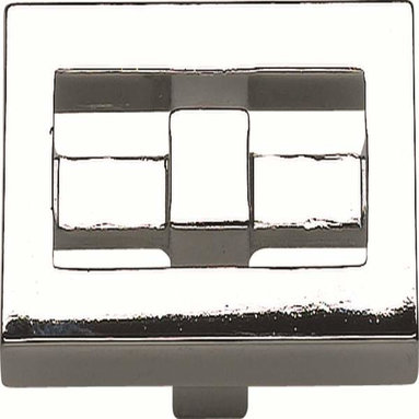 Atlas Homewares - Atlas 261-Ch Nobu 1 3/4-Inch Rectangular Door Knob Polished Chrome - Atlas 261-Ch Nobu 1 3/4-Inch Rectangular Door Knob Polished Chrome