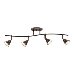 Quoizel - Quoizel EVE1404PN Eastvale 4 Light Track Lighting in Palladian Bronze - The Eastvale series pairs a vintage industrial look with modern sensibility. Attention to fine details and a rich Palladian Bronze finish allow this distinctive fixture suit a variety of interior design styles.