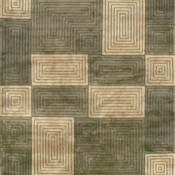 """Loloi Rugs - Loloi Rugs Floyd Collection - Olive / Sage, 5'-6"""" x 8'-6"""" - A transitional hand knotted collection of the finest New Zealand wool. Sophisticated designs use rich color to show off their beauty and simple elegance."""