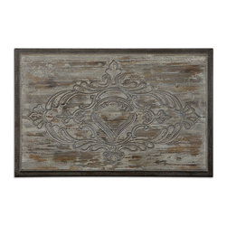 Uttermost - Cancellara Wooden Wall Art - You might want something different to hang on your wall. Something more natural with an antiqued finish, natural wood undertones and rust accents. Something exactly like this.