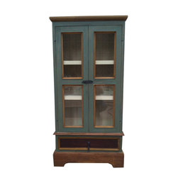 Fancydecor - Distressed Wooden Storage Display Cabinet - Handcrafted - -New-  but this wooden storage display cabinet is antique style.