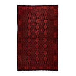 "Darya Rugs - Darya Rugs Kilim, Red, 6'7"" x 9'10"" M1770-498 - Darya Rugs Kilim collection rugs are craftily woven using the flat-weave knotting technique. Kilims have a low-pile, maintaining its original, ethnic and tribal essence. Kilim rugs are flat woven, meaning they are thin, similar to throw rugs."