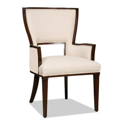 Hooker Furniture - Decorator Chair - Dining Arm Chair 37 - White glove, in-home delivery!  For this item, additional shipping fee will apply.  Fabric: Lindy Natural  Side chair is in a set of two chairs.  Arm chair sold individually.
