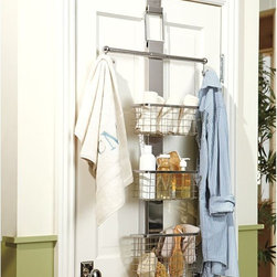Over-the-Door Bath Storage - Use the backs of doors to store and organize items in baths, closets, pantries, laundries and even bedrooms!