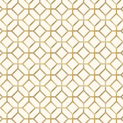 Murals Your Way - Gold Octagons Wall Art - Created by  Environmental Graphics, the Gold Octagons wall mural will add a distinctive touch to your room