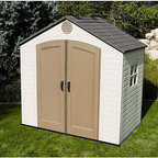 Lifetime - Lifetime Storage Shed (8' x 5') - Safely store garden items in this handsome shed from Lifetime Give your property a clean and organized look with this storage shed This shed is reinforced with US-made steel for longevity