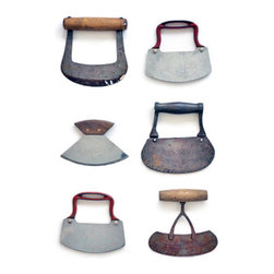 Vintage Mezzaluna - Stylish and sharp, these vintage mezzalunas can be used to chop-chop or simply to add character to a basic knife collection.