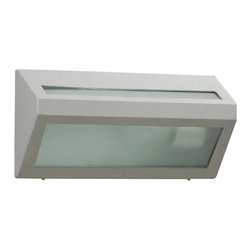 PLC Lighting - PLC 1 Light Outdoor Fixture Cedro Collection 2104/CFL SL - -Finish: Silver