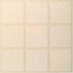 "Armstrong World Industries - Armstrong Tile Caliber Almond - Armstrong -- caliber, 0.080 gauge, 12"" x 12"" tile, urethane no-wax wear layer, easy to clean, easy to install, self-adhering, 45 tiles per carton (45 sq. Ft. ), 5-year limited warranty. Bardwin almond."