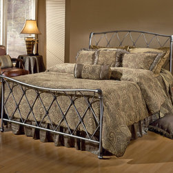 Hillsdale - Silverton Bed Set - Dress up your sleeping space with the Silverton bed set,which features a gorgeous latticework design that works well with traditional bedroom decor. The charming curved headboard and footboard impart an aura of timeless romance.