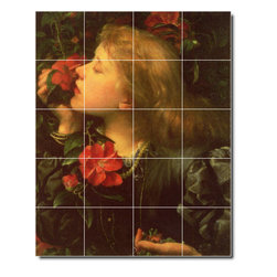 Picture-Tiles, LLC - Choosing Tile Mural By George Watts - * MURAL SIZE: 21.25x17 inch tile mural using (20) 4.25x4.25 ceramic tiles-satin finish.