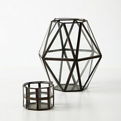 Anthropologie - Framework Votive - *Galvanized steel, glass