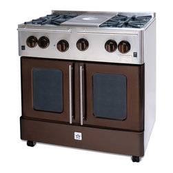 "BlueStar Ginger Spice 36"" Gas Range - Ginger Spice 36"" Gas Range-part of the Precious Metal Collection"