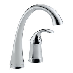 Delta Single Handle Bar/Prep Faucet - 1980-DST - Pilar(R) with Touch2O(R) Technology is a distinctive kitchen faucet that coordinates with any decor and provides all the convenient functionality Touch2O(R) Technology has to offer.