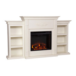 Upton Home Dublin Ivory Electric Fireplace -