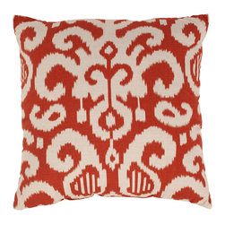 Pillow Perfect - Fergano 23-inch Floor Pillow in Flame - Add the finishing touch to your home decor with this pillow from Pillow Perfect. This pillow has an eye-catching design that will highlight your home decor.
