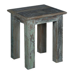 "Rustic 15"" Square Reclaimed Wood Night Stand End Table - Our Rustic 15"" End Table fits is small spaces and expands your options wherever it is placed. Use it as a bedside table when you want to simplify your design or put it in the bathroom where only a small table will fit."