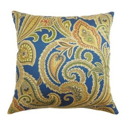 The Pillow Collection Ebadon Paisley Pillow - Jewel - Like a sparkling, faceted gem, The Pillow Collection Ebadon Paisley Pillow - Jewel is the perfect centerpiece to your design. Made of 100% high-quality cotton, this elegant square pillow features a plush 95/5 feather/down insert for ultra softness. The bright and colorful paisley print adds a cheery, traditional touch to your home.About The Pillow CollectionIdentical twin brothers Adam and Kyle started The Pillow Collection with a simple objective. They wanted to create an extensive selection of beautiful and affordable throw pillows. Their father is a renowned interior designer and they developed a deep appreciation of style from him. They hand select all fabrics to find the perfect cottons, linens, damasks, and silks in a variety of colors, patterns, and designs. Standard features include hidden full-length zippers and luxurious high polyester fiber or down blended inserts. At The Pillow Collection, they know that a throw pillow makes a room.