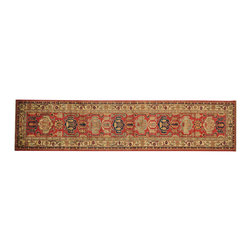 1800-Get-A-Rug - Tribal Super Kazak Oriental Rug Runner Red Hand Knotted 100% Wool Sh16525 - Our Tribal & Geometric hand knotted rug collection, consists of classic rugs woven with geometric patterns based on traditional tribal motifs. You will find Kazak rugs and flat-woven Kilims with centuries-old classic Turkish, Persian, Caucasian and Armenian patterns. The collection also includes the antique, finely-woven Serapi Heriz, the Mamluk Afghan, and the traditional village Persian rug.